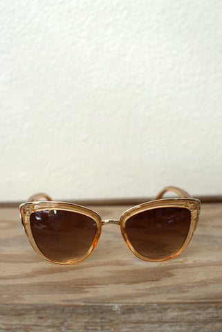 Pink & Gold Mirrored Sunglasses