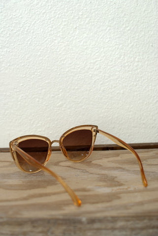 Clear Orange Cat Eye Sunglasses