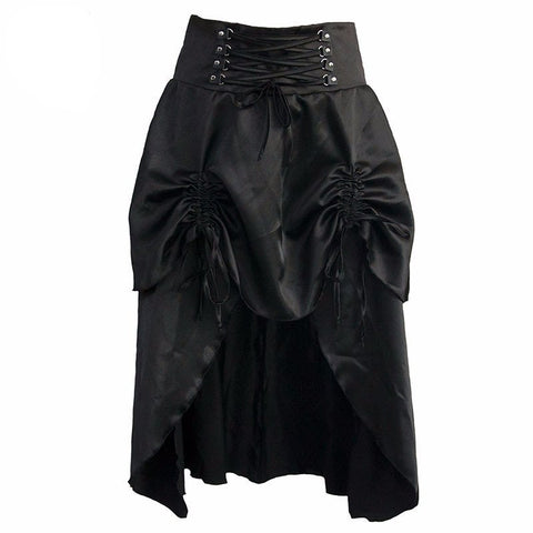 Retro Black Lace Skirt