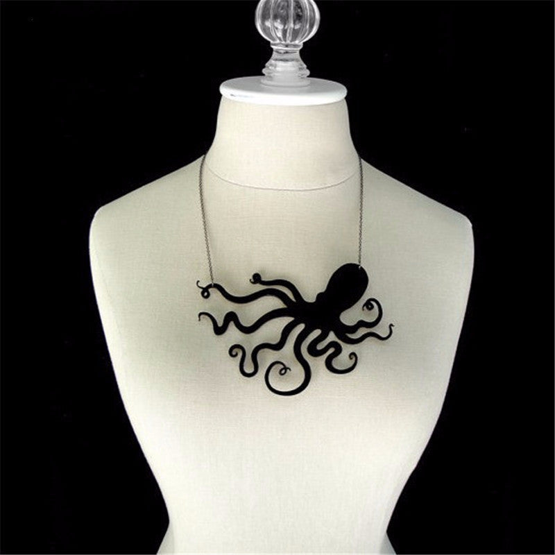 Octopus Steampunk Pendant Necklace-Jewelry-Steampunk Funk