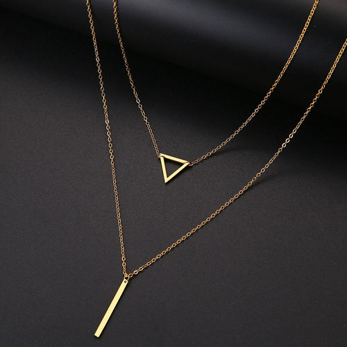 Triangle and Bar Necklace