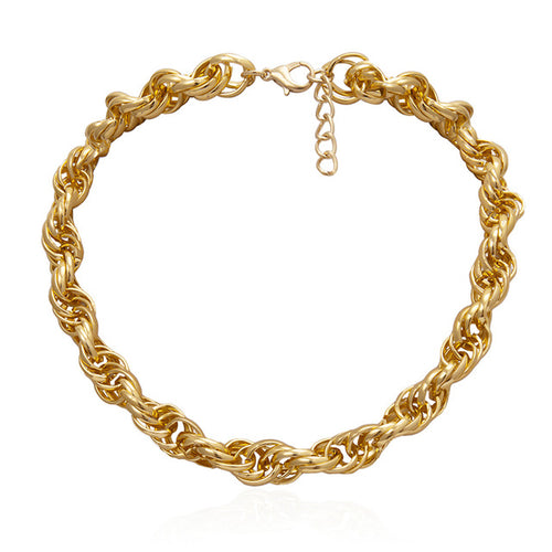 Chain Link Collar Statement Necklace (Variety of styles)