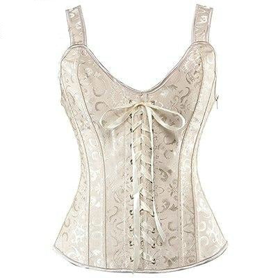 Steampunk Brocade Lace-Up Bustier