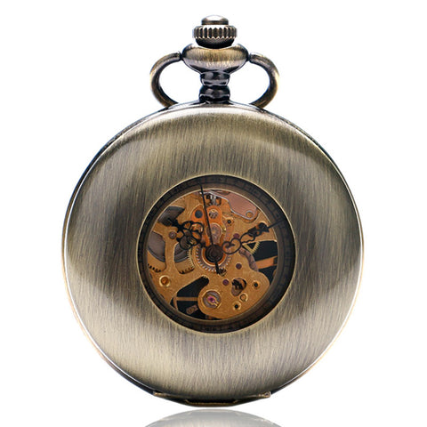 Steel Steampunk Pocket Watch