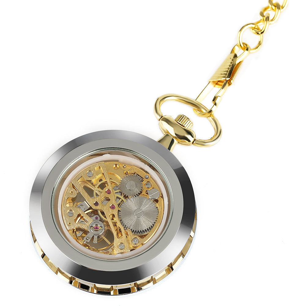 Transparent Skeleton Pocket Watch or Necklace