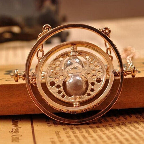 Rotating Hourglass Necklace