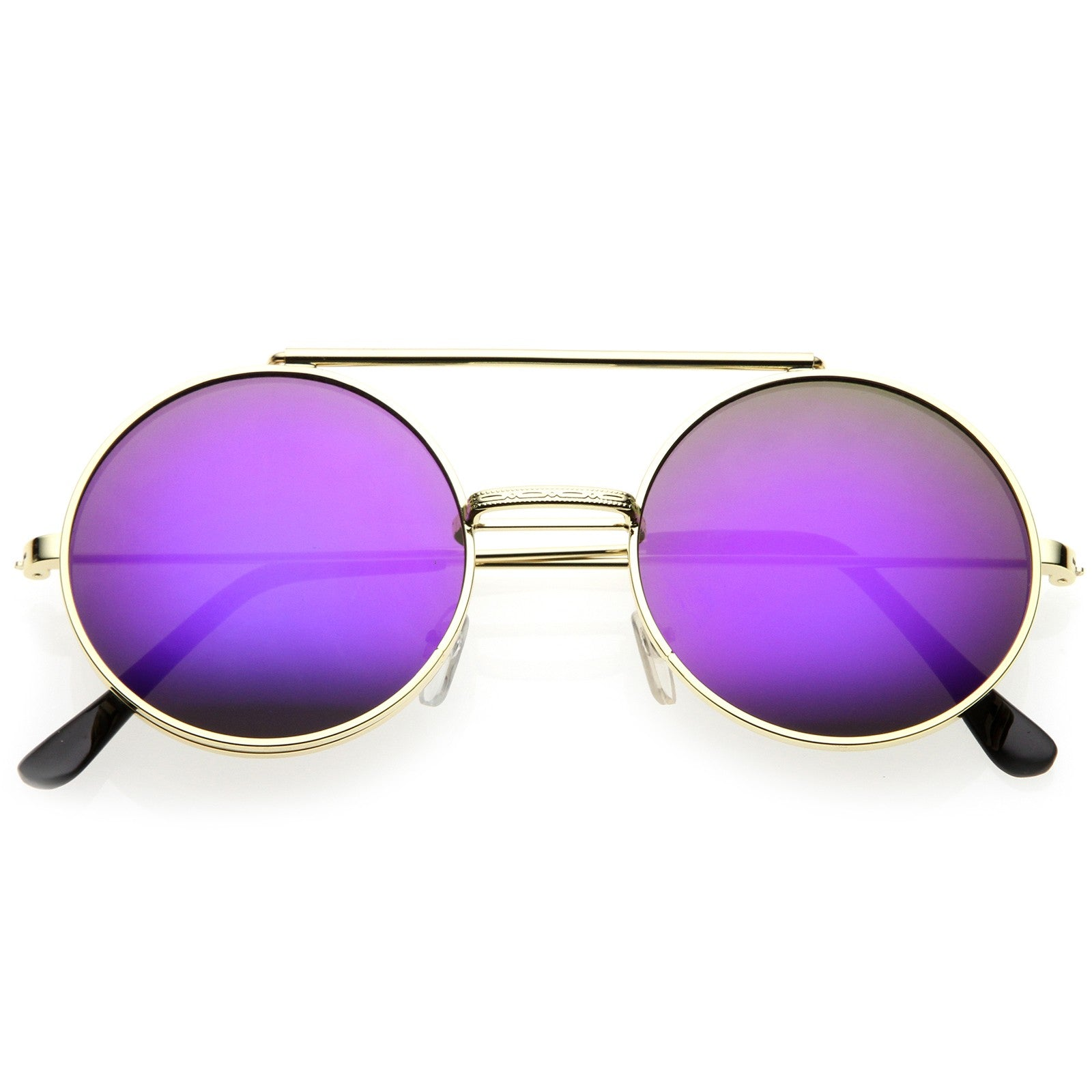 Flip-Up Ombre Round Sunglasses