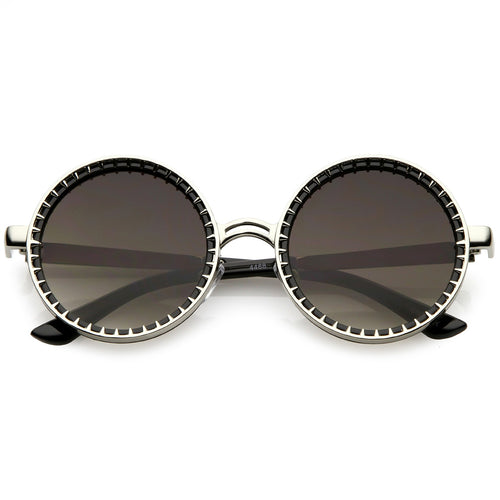 50mm Round Spiked Sunglasses