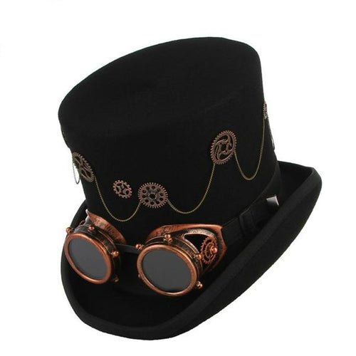 Wool Fedora and Goggles