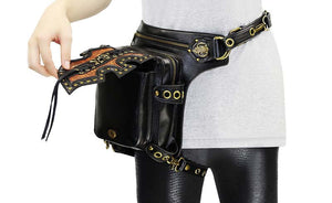 Riveted Steampunk Leg Holster Waist Bag Gothic Punk Rock-Bag-Steampunk Funk