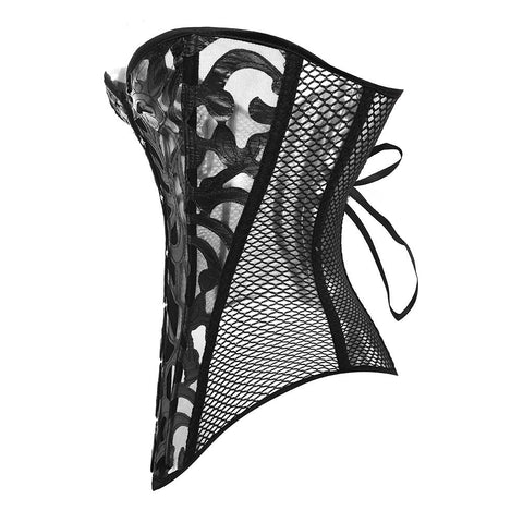 Sexy Mesh Hollow Out Lace Corset-corset-Steampunk Funk