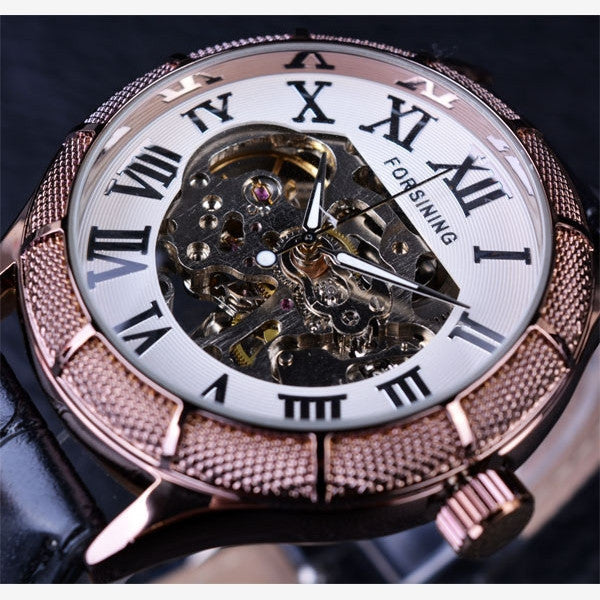 Skeleton Roman Numeral Watch Steampunk Wristwatches-Watch-Steampunk Funk