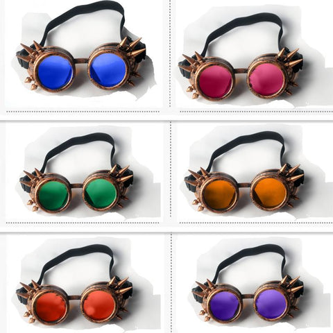 Steampunk Spiked Goggles in 5 Colors-Accessories-Steampunk Funk