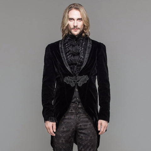 Steampunk Victorian Style Swallow Tail Coats Gothic Men's Dress Jacket-Coats-Steampunk Funk