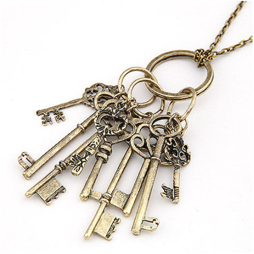 Victorian Key Steampunk Necklace-Jewelry-Steampunk Funk