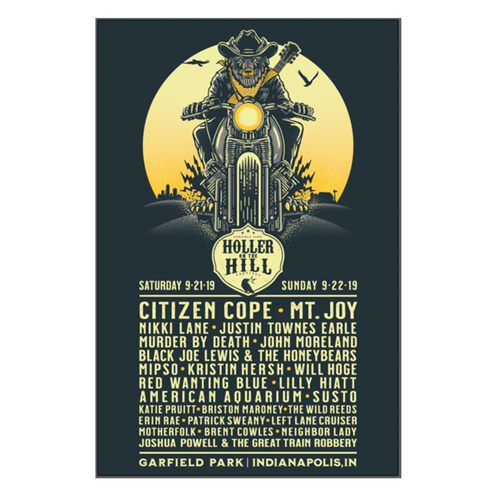 2019 Holler On The Hill - Lineup Poster (Limited Edition)