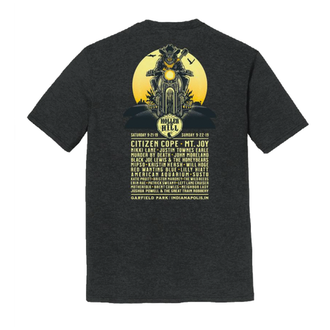 2019 Holler On The Hill - Black Lineup T-Shirt