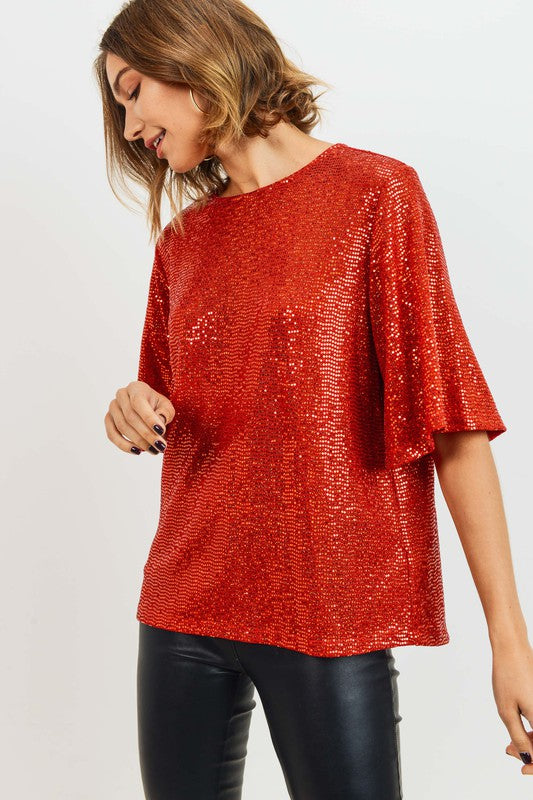 Lady in Red Ruby Top