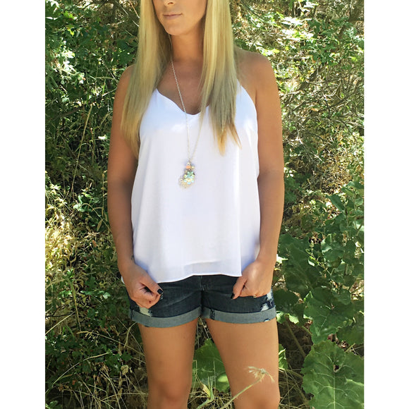 The Sammy Tank in White