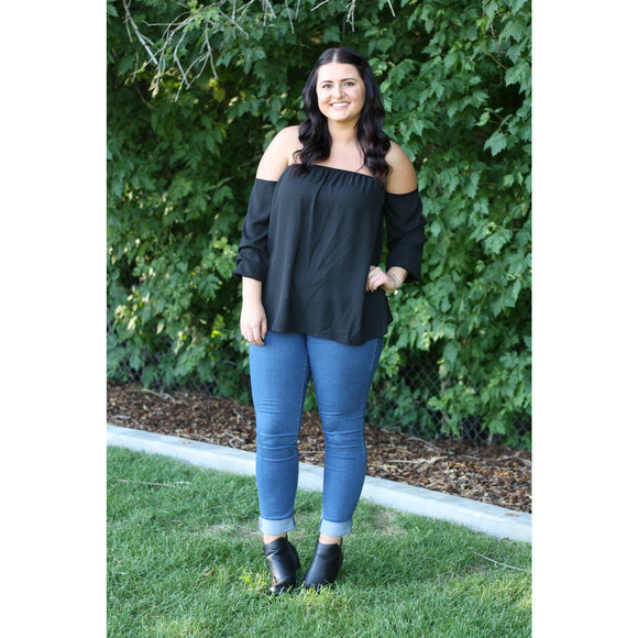 Only You Off The Shoulder Top in Black