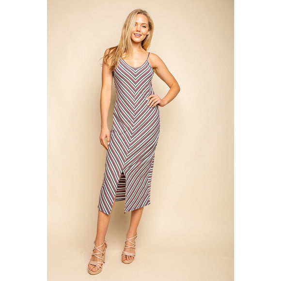 Free Fallin' Striped Midi Dress