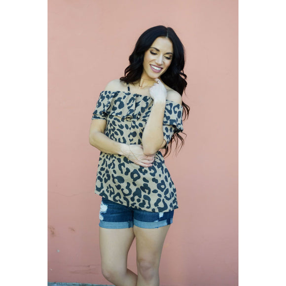 Ruffled Up Leopard Top
