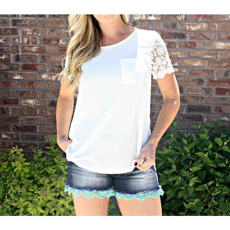 Crochet Sleeve Tee
