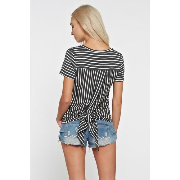 Stripes & Bows Tee