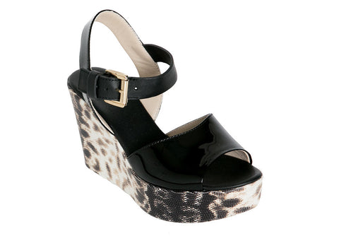 AGL - Wedge Sandal Black - Seaside Soles