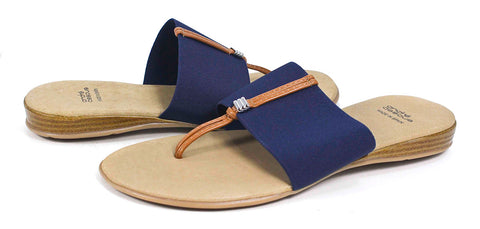 Andre Assous - Nice AA Thong Sandal in Navy - Seaside Soles