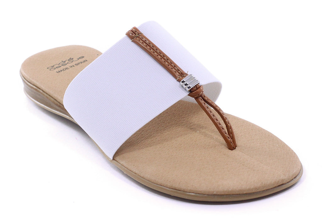 Andre Assous - Nice 2 Thong Sandal in White - Seaside Soles