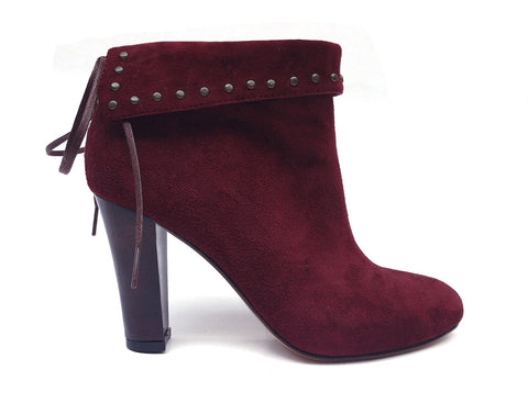 2ad7a67c7282c5 Sale Huma Blanco - Angelica Heeled Bootie in Burgundy - Seaside Soles