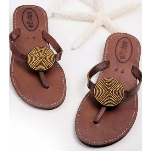 Aspiga - Disc Leather Sandal - Seaside Soles
