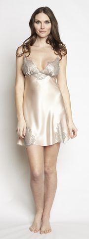 Christine Lingerie - Chantilly Silk Chemise - Seaside Soles