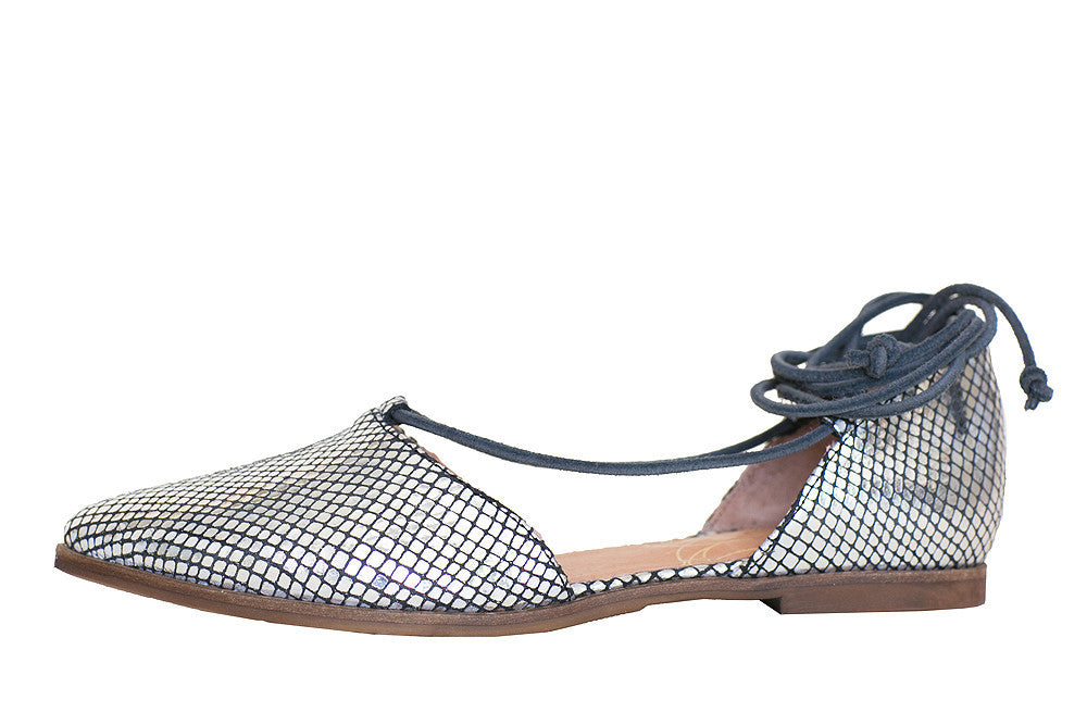 Coque Terra - Betty Metal Snake Silver Flat - Seaside Soles