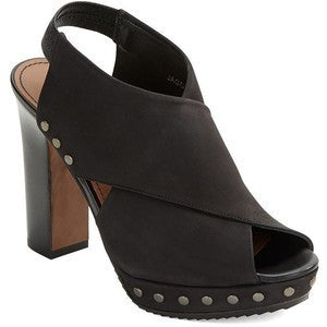 Donald J Pliner - Jagger Block Heel Sandal in Black - Seaside Soles