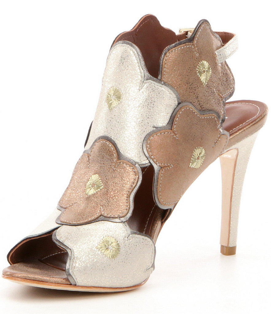 Donald J Pliner Alena Dress Sandal in Platino/Bronze - Seaside Soles