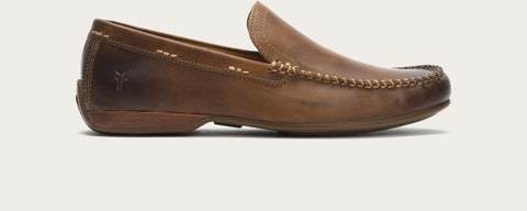 Frye - Lewis Venetian Rugged Leather Loafer - Seaside Soles