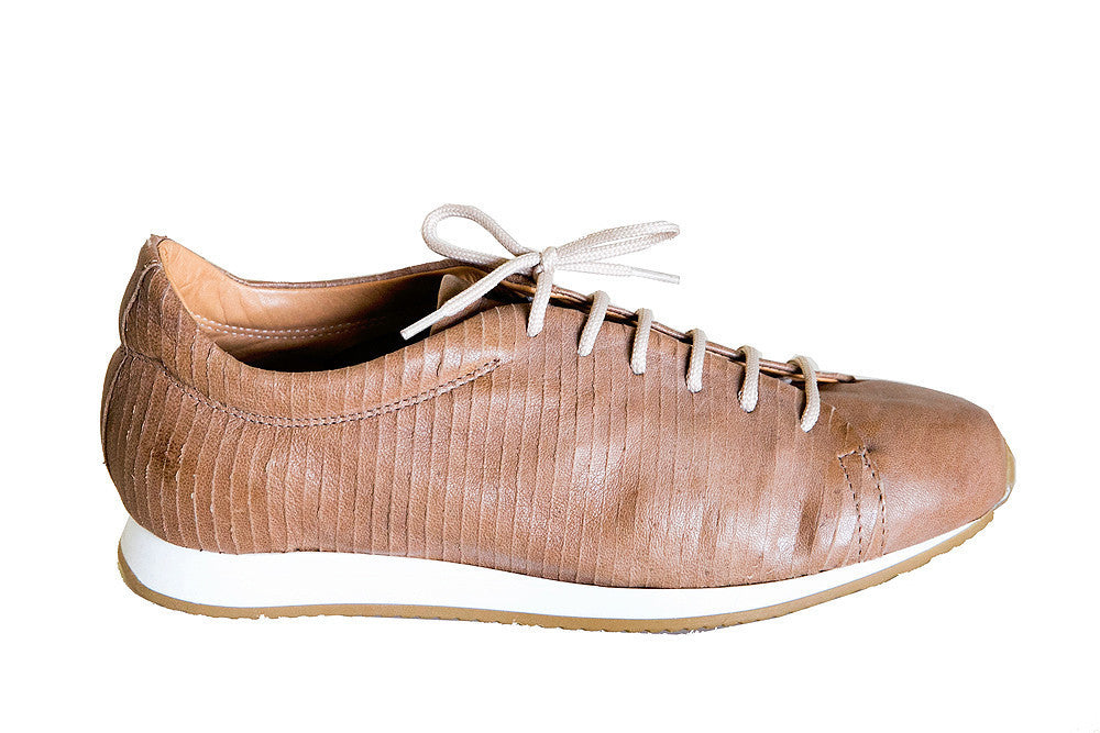 Gidigio - Cerato Italian Leather Sneaker in Cuoio - Seaside Soles