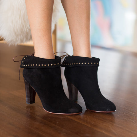 Huma Blanco - Angelica Heeled Bootie in Black - Seaside Soles