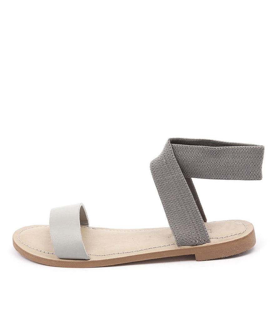 ivylee - Lily Ankle Strap Sandal in Grey - Seaside Soles