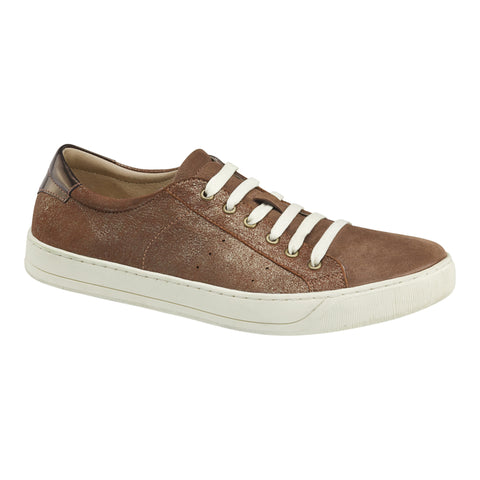 Johnston & Murphy - Emerson Sneaker in Gold Mettalic - Seaside Soles