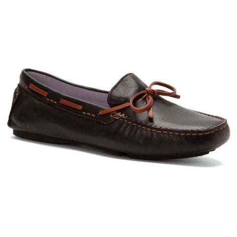 Johnston & Murphy Maggie Black Glove Leather Moccasin - Seaside Soles