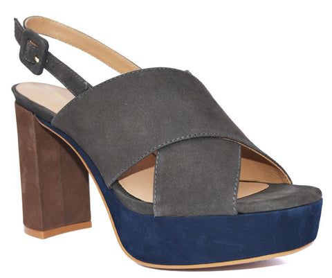 Klub Nico - Una Color Block Heel Sandal - Seaside Soles