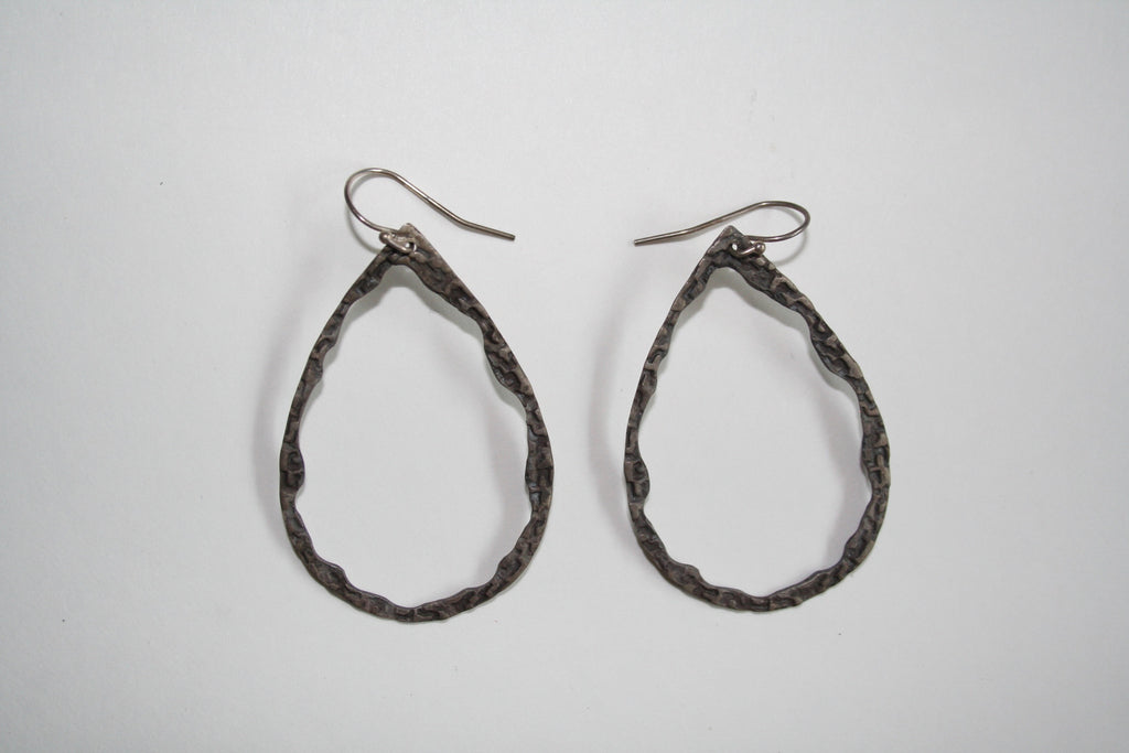 Page Sargisson - Carlotta Oxidized Sterling Silver Hoop Earrings - Seaside Soles
