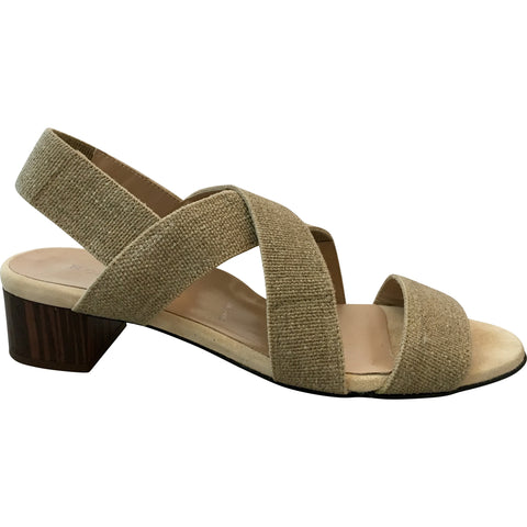 Ron White - Eve W Linen Elastic Sandal - Seaside Soles