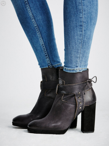 Free People - Palomar Leather Heel Boot