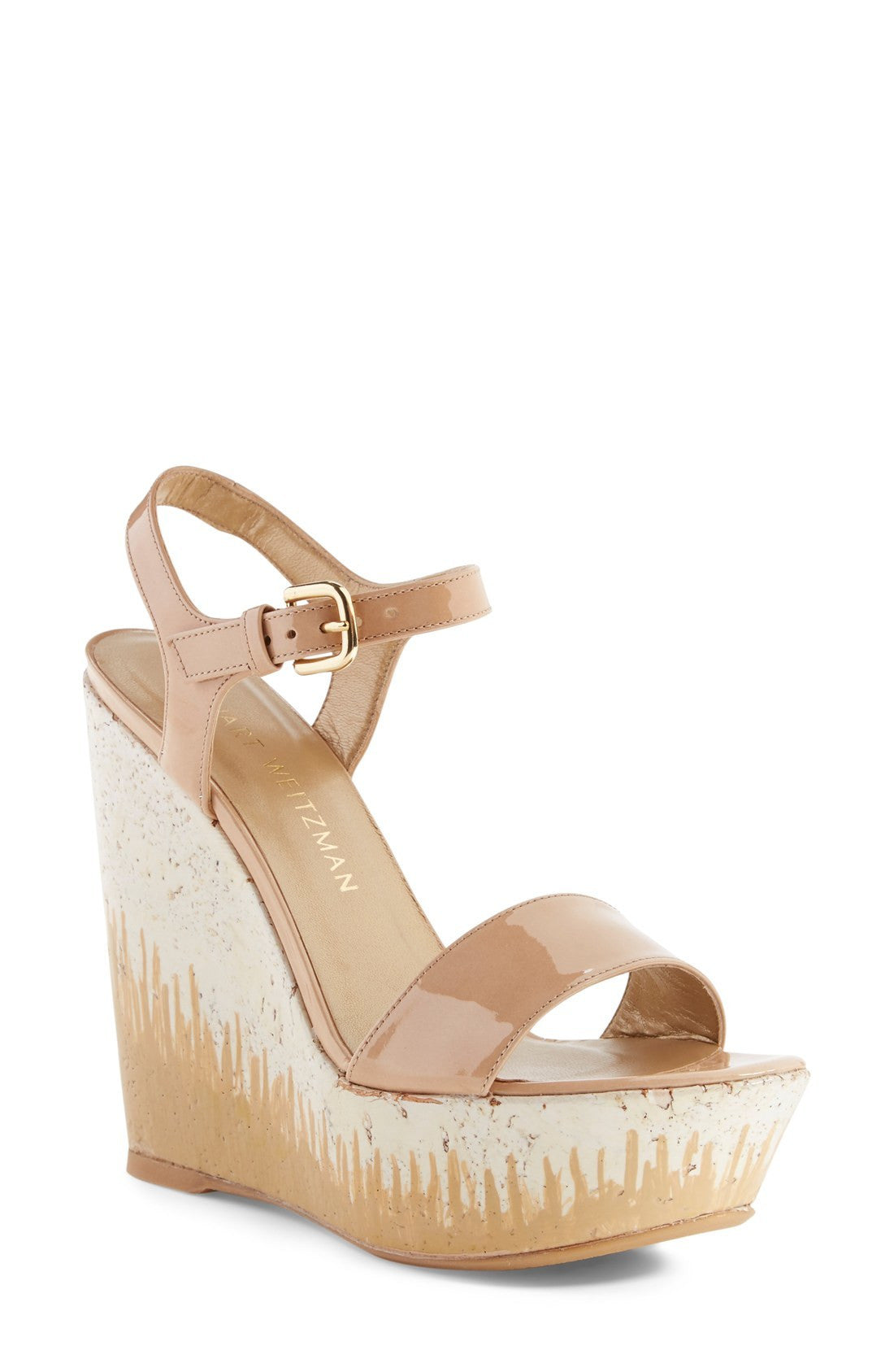25aae5386da Stuart Weitzman Single-Wedge-Platform-Womens-Heel-Ankle -Buckle-Open-Toe-Sandal-Strap-Ivory-Nude-Patent-Leather -Bambina-Shoes.jpg v 1492188970