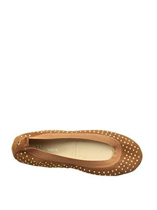 Yosi Samra Micro Studded Ballet Flat in Whiskey - Seaside Soles