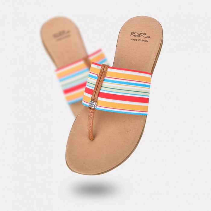 Andre Assous - Nice AA Thong Sandal in Cabana - Seaside Soles